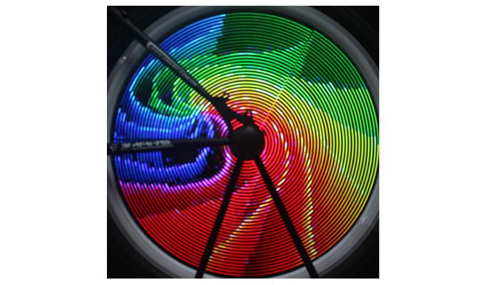 full wheel colorful animation light